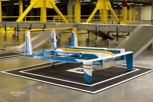 """A prototype Amazon Prime Air drone unveiled by the company on Nov. 30, 2015. • <a style=""""font-size:0.8em;"""" href=""""http://www.flickr.com/photos/139546847@N02/25169073106/"""" target=""""_blank"""">View on Flickr</a>"""