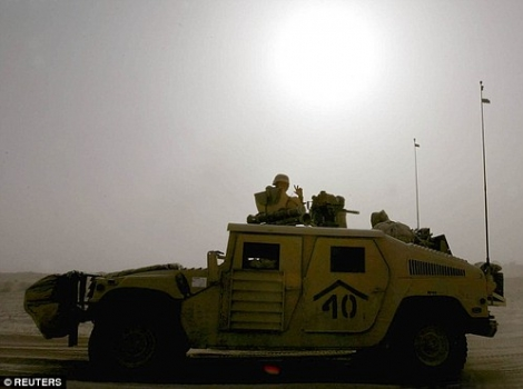 """TA Humvee which crossed the Kuwait Iraq border in the early hours of March 21, 2003. • <a style=""""font-size:0.8em;"""" href=""""http://www.flickr.com/photos/139546847@N02/25115784481/"""" target=""""_blank"""">View on Flickr</a>"""