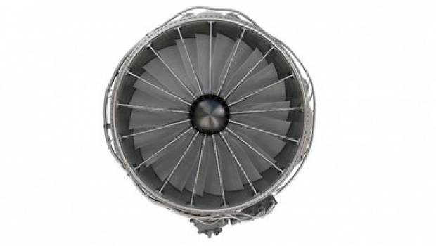 "GE has released the first photograph of the fan on its adaptive cycle engine. • <a style=""font-size:0.8em;"" href=""http://www.flickr.com/photos/139546847@N02/25077083812/"" target=""_blank"">View on Flickr</a>"