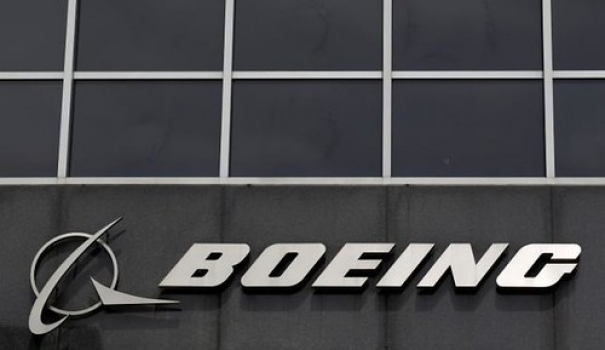 """The Boeing logo is seen at their headquarters in Chicago • <a style=""""font-size:0.8em;"""" href=""""http://www.flickr.com/photos/139546847@N02/25195413345/"""" target=""""_blank"""">View on Flickr</a>"""