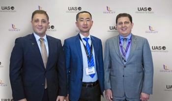 "From left to right  Mr. Omar Hosari UAS Chief Executive Officer - Mr. Zhang Peng Deer Jet Chairman and CEO - Mr. Mohammed Husary UAS Executive President[1]_edited-1 • <a style=""font-size:0.8em;"" href=""http://www.flickr.com/photos/139546847@N02/30137495964/"" target=""_blank"">View on Flickr</a>"