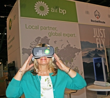 "Air BP brings a green virtual reality to NBAA • <a style=""font-size:0.8em;"" href=""http://www.flickr.com/photos/139546847@N02/30681083501/"" target=""_blank"">View on Flickr</a>"