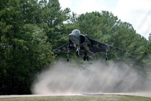 "AV-8B Harrier II hovering • <a style=""font-size:0.8em;"" href=""http://www.flickr.com/photos/139546847@N02/30202182462/"" target=""_blank"">View on Flickr</a>"