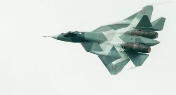 "T-50 PAK FA 5th Generation Jet • <a style=""font-size:0.8em;"" href=""http://www.flickr.com/photos/139546847@N02/29687743924/"" target=""_blank"">View on Flickr</a>"