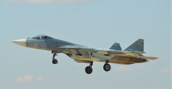 """Sukhoi T-50 • <a style=""""font-size:0.8em;"""" href=""""http://www.flickr.com/photos/139546847@N02/29687454773/"""" target=""""_blank"""">View on Flickr</a>"""