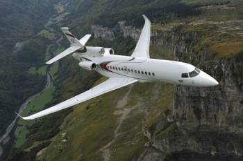 "Dassault Falcon 8X in flight • <a style=""font-size:0.8em;"" href=""http://www.flickr.com/photos/139546847@N02/30732675006/"" target=""_blank"">View on Flickr</a>"
