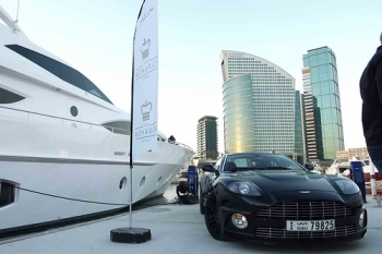 """Gulf Craft and Aston Martin Car • <a style=""""font-size:0.8em;"""" href=""""http://www.flickr.com/photos/139546847@N02/30468756720/"""" target=""""_blank"""">View on Flickr</a>"""