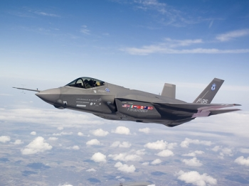 """AIR_F-35A_AA-1_Test_Flight_lg • <a style=""""font-size:0.8em;"""" href=""""http://www.flickr.com/photos/139546847@N02/30283279786/"""" target=""""_blank"""">View on Flickr</a>"""