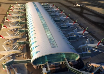 """Emirates new A380 hub specially designed for the A380 • <a style=""""font-size:0.8em;"""" href=""""http://www.flickr.com/photos/139546847@N02/30318224345/"""" target=""""_blank"""">View on Flickr</a>"""
